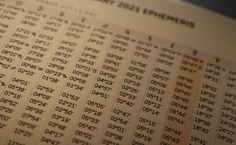 photographie d'une page d'un éphéméride pour janvier 2021