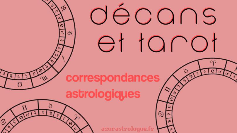 décans et tarot : correspondances astrologiques